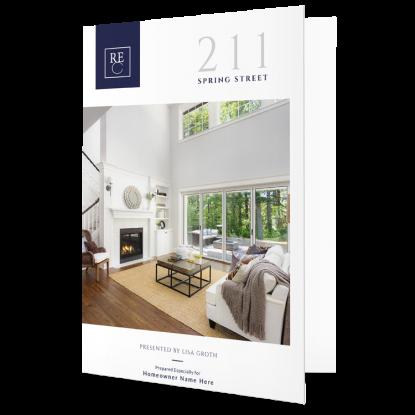 REM Real Estate Agent Market Report Postcard Listing Presentation Mailer 004