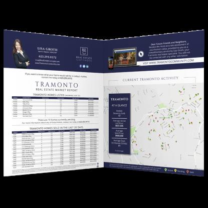 REM Real Estate Agent Market Report Postcard Listing Presentation Mailer 005