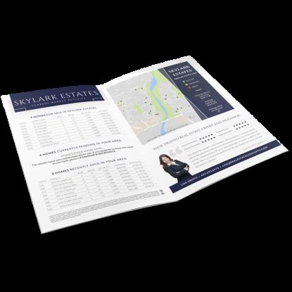 REM Real Estate Agent Market Report Postcard Listing Presentation Mailer 008